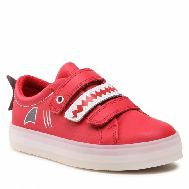Sneakersy CLARKS - Flarescalelo  261580447  Red Leather