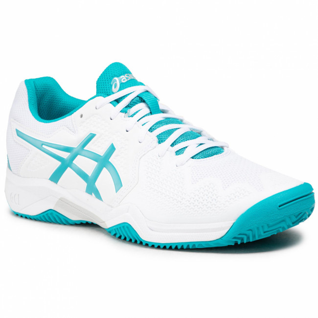 Topánky ASICS - Gel-Resolution 8 Clay Gs 1044A019 White/Lagoon 106