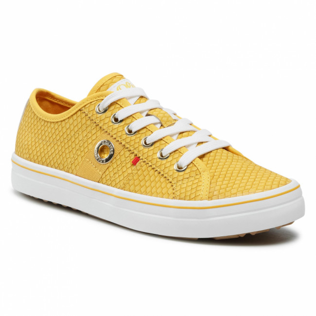 Sneakersy S.OLIVER - 5-23640-26 Yellow Snake 650