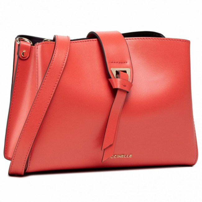 Kabelka COCCINELLE - H59 Alba Textured E1 H59 15 01 01 Coral Red R34