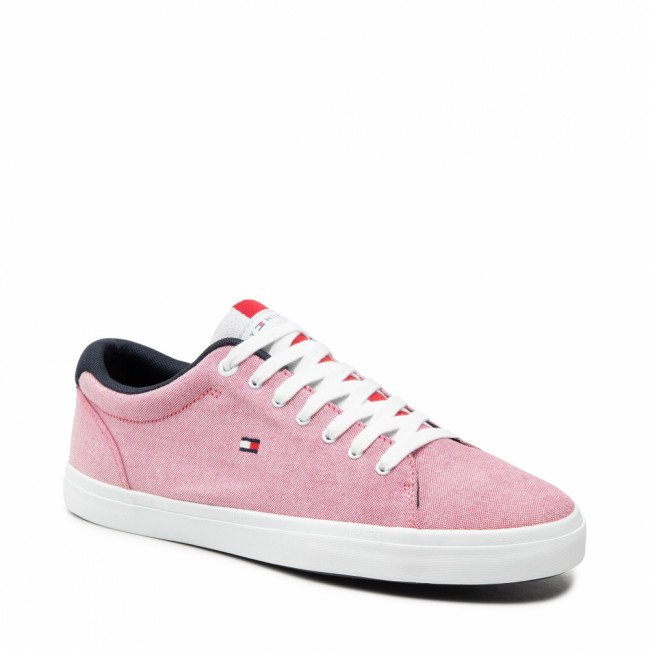Tenisky TOMMY HILFIGER - Essential Chambray Vulcanized FM0FM03472 Primary Red XLG