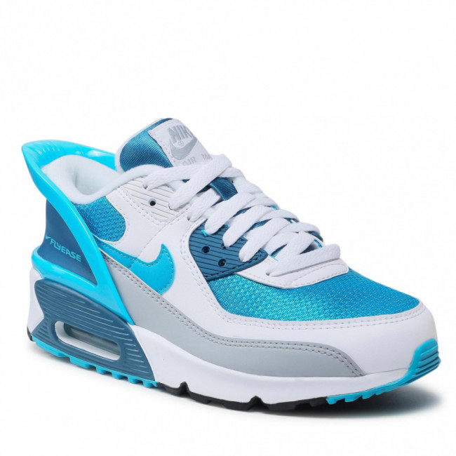 Topánky NIKE - Air Max 90 Flyease (GS) CV0526 103 White/Laser Blue/White