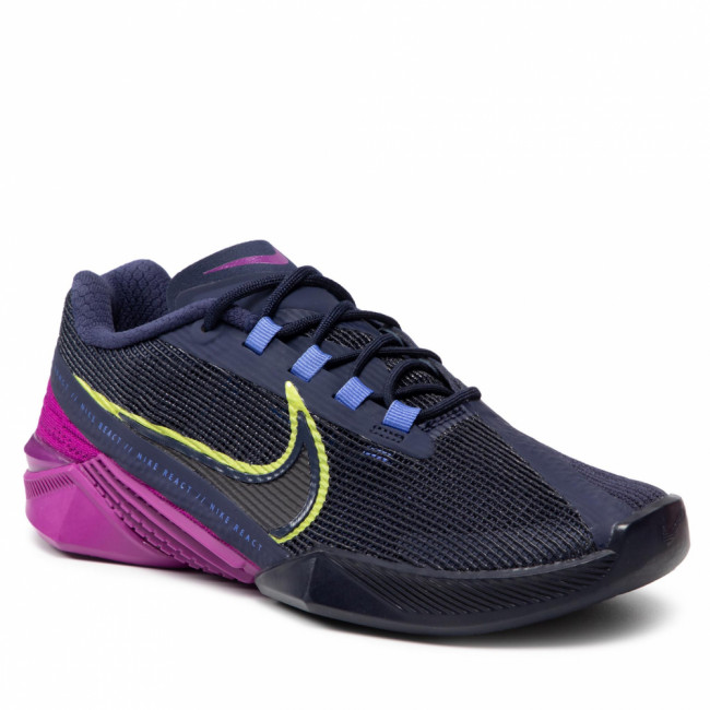Topánky NIKE - React Metcon Turbo CT1249 400 Blackened Blue/Cyber/Red Plum