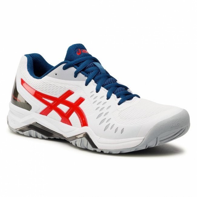 Topánky ASICS -  Gel-Challenger 12 1041A045 White/Classic Red 117