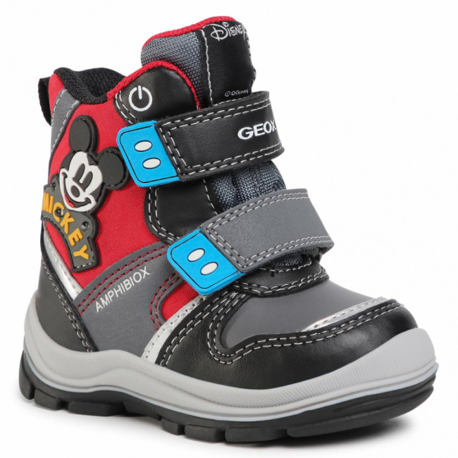 Snehule GEOX - B Flanfil B.B Abx C B043VC 054FU C0048 M Black/Red