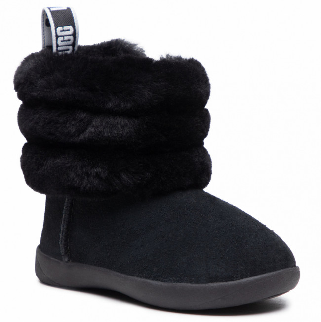 Topánky UGG - T Mini Quilted Fluff 1110704T Blk