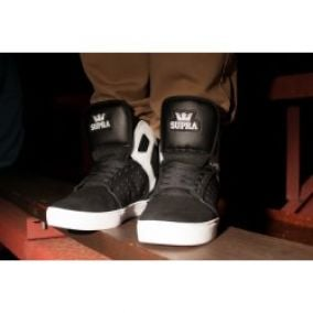 Supra Atom High Black White White