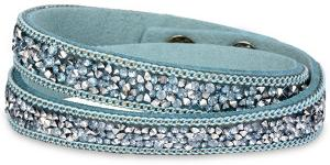 Troli Náramok Wrap Charm Light Blue Charm Light