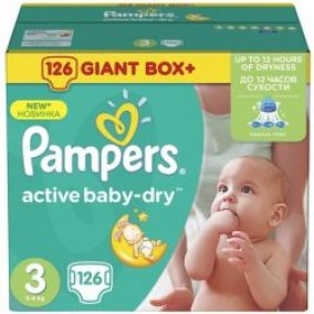 PAMPERS Active Baby-dry 3 Midi jednorazové plienky