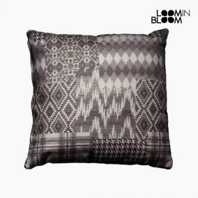 Carla black patchwork cushion by Loom In Bloom
