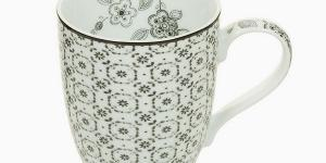 Cup Porcelán Geometrické tvary - Kitchens Deco