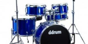 DDRUM D1 Junior Drum Set 5pc - Police Blue