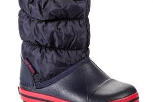 Snehule CROCS - Winter Puff 14613 Navy/Red