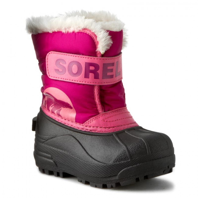 Snehule SOREL - Childrens Snow Commander NC1877 Tropic Pink/Deep Blush 652