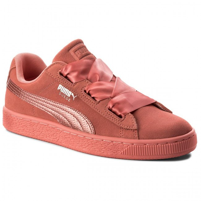Sneakersy PUMA - Suede Heart SNK Jr 364918 05 Shell Pink/Shell Pink