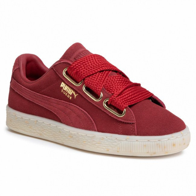 Sneakersy PUMA - Suede Heart Celebrate 365561 02 Red Dahlia/Red Dahlia