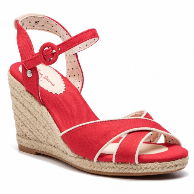 Espadrilky PEPE JEANS - Shark Plain PLS90404  Red 255