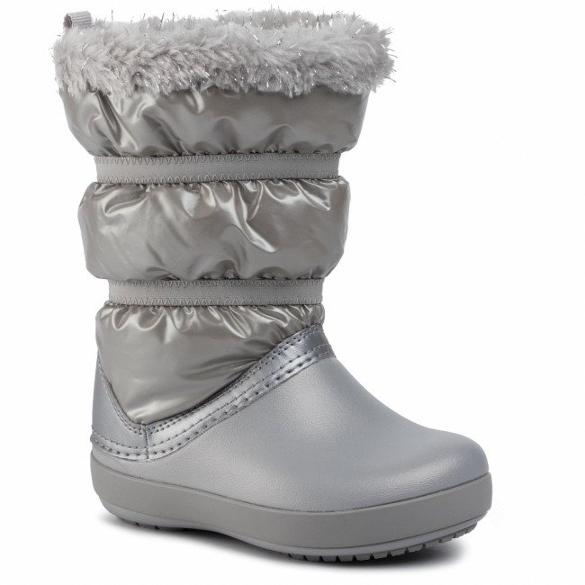 Snehule CROCS - Cb Lodgepoint Metallic Boot G 205829 Silver Metallic