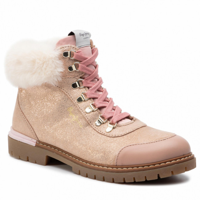 Outdoorová obuv PEPE JEANS - Combat Mountain PGS50141 Powder Rose 318