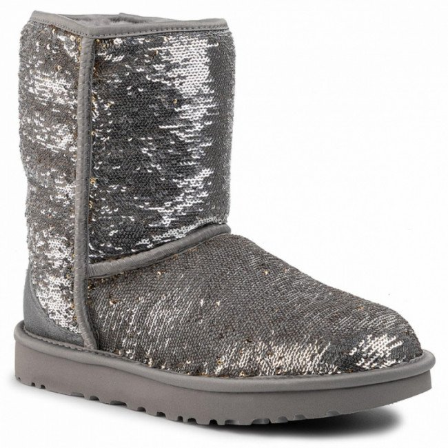 Topánky UGG - W Classic Short Cosmos Sequin 1103796 Sgld