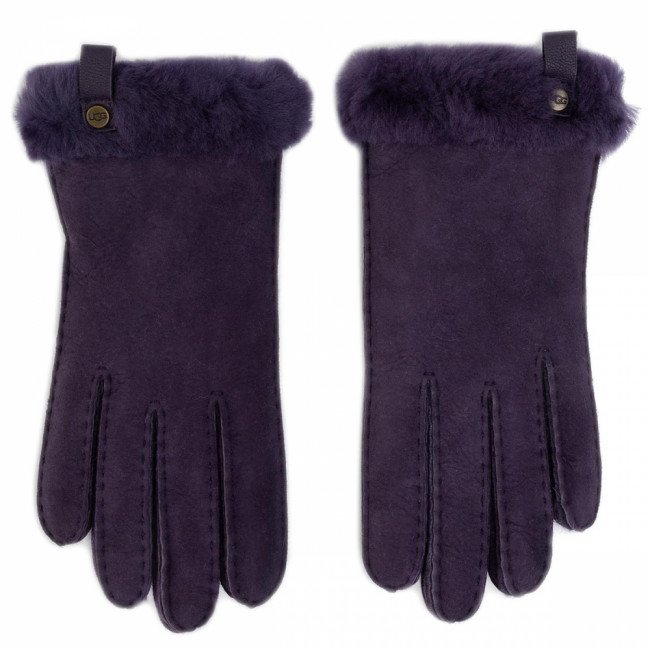 Rukavice UGG - W Shorty Glove W Leather Trim 17367 Nightshade