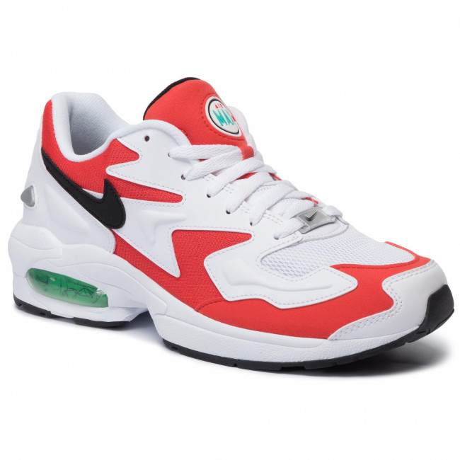 Topánky NIKE - Air Max2 Light AO1741 101 White/Black/Habanero Red