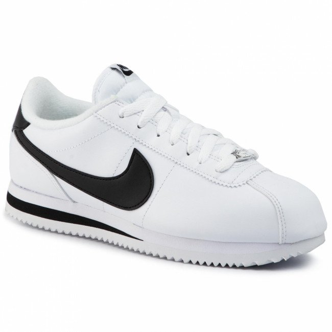 Topánky NIKE - Cortez Basic Leather 819719 100 White/Black/Metallic Silver