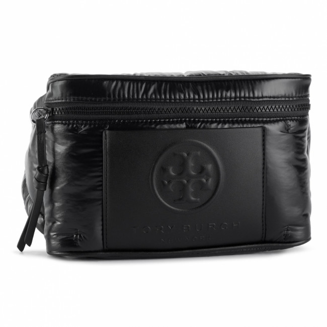 ľadvinka TORY BURCH - Perry Bombe Nylon Belt Bag 56345 Balck 001