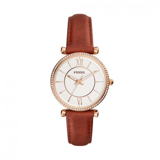Hodinky FOSSIL - Carlie ES4428  Brown/Gold