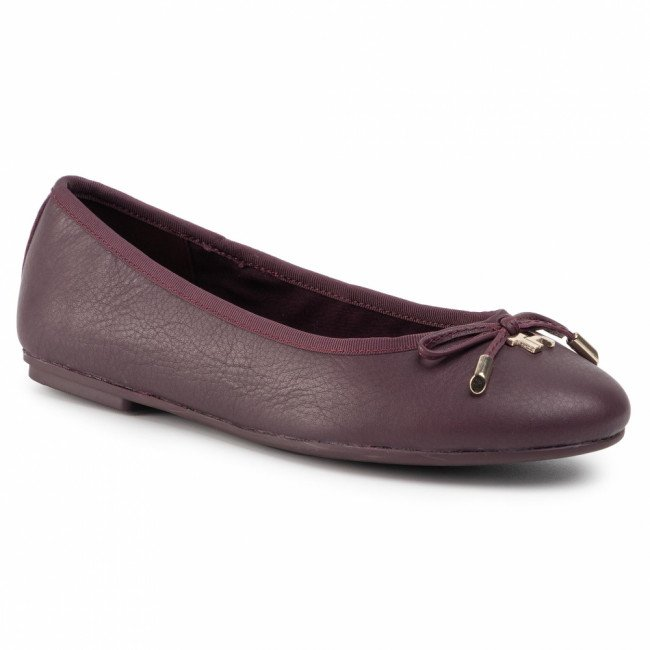 Baleríny TOMMY HILFIGER - Elevated Th Hardware Ballerina FW0FW04594 Deep Burgundy XIH