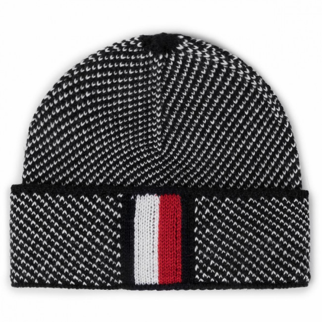 Čiapka TOMMY HILFIGER - Corporate Intarsia Beanie AM0AM05604  0GM