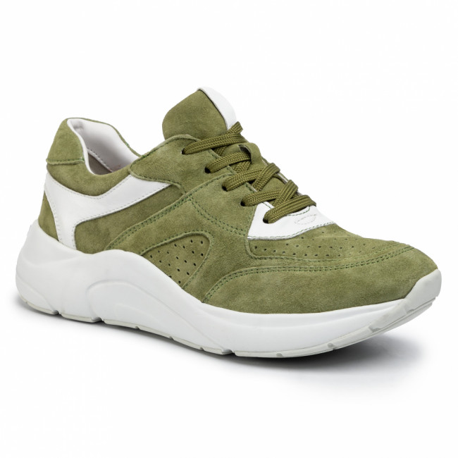 Sneakersy CAPRICE - 9-23501-24 Moss White 711