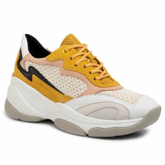 Sneakersy GEOX - D Kirya B D92BPB 02214 C2M1Q Lt Yellow/Off White