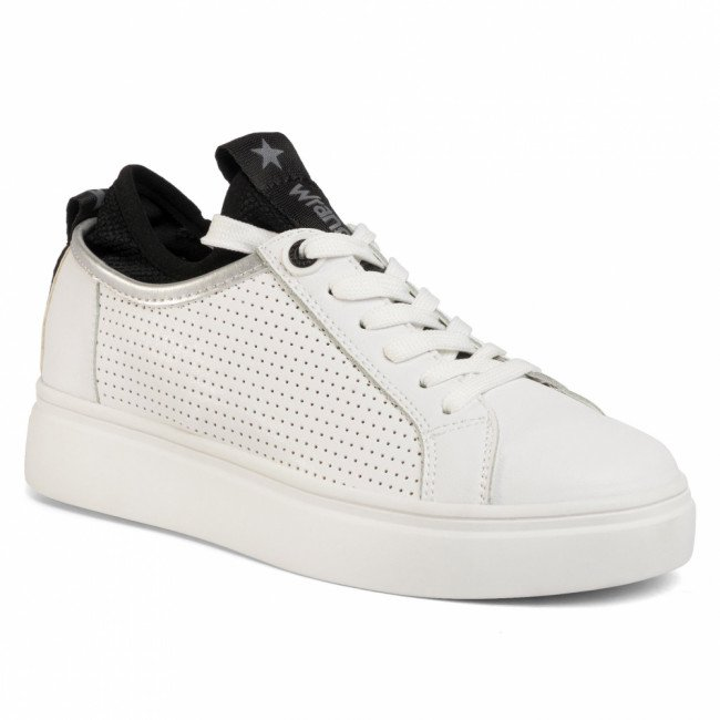 Sneakersy WRANGLER - Olivia Punched WL01601A  White/Silver 405