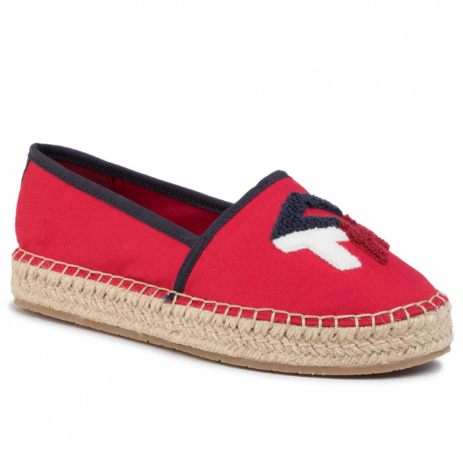 Espadrilky TOMMY HILFIGER - Th Patch Espadrille FW0FW04633 Primary Red XLG