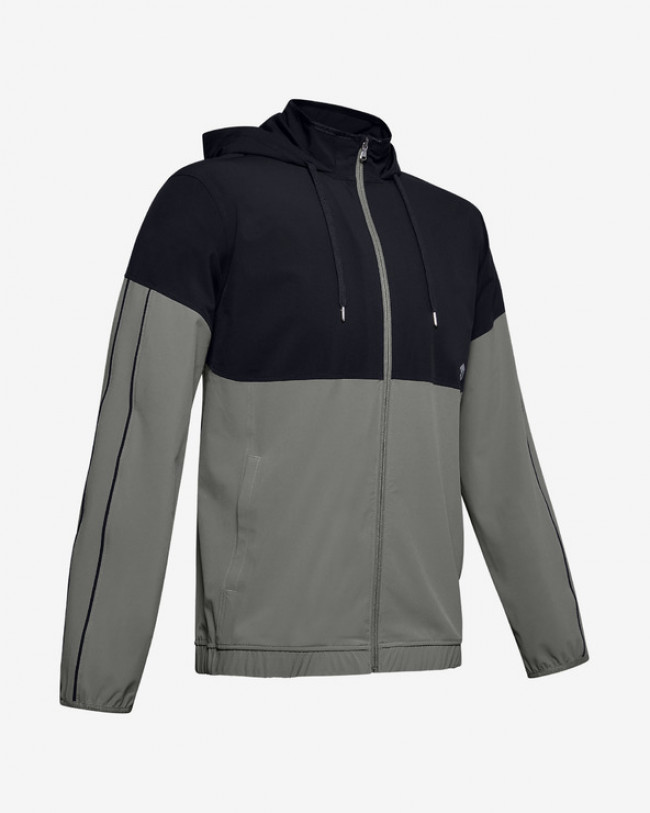 Under Armour Athlete Recovery Woven Warm Up Bunda Zelená
