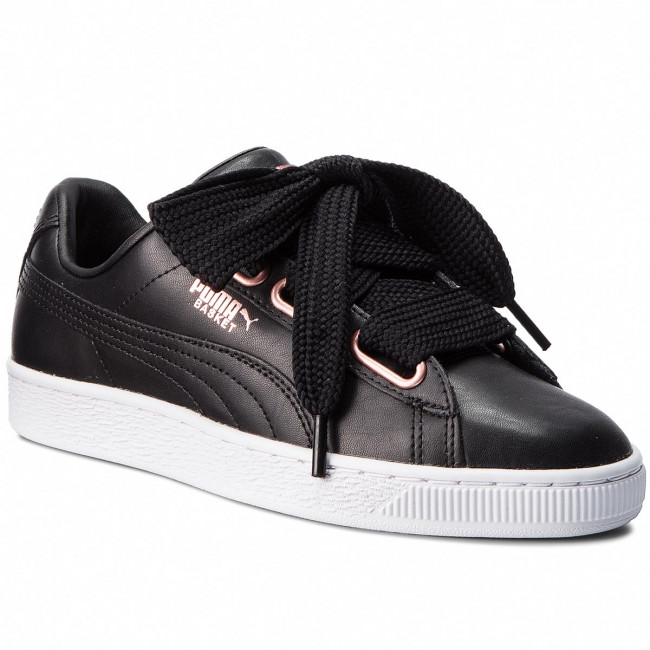 Sneakersy PUMA - Basket Heart Leather 367817 02 Puma Black/Rose Gold
