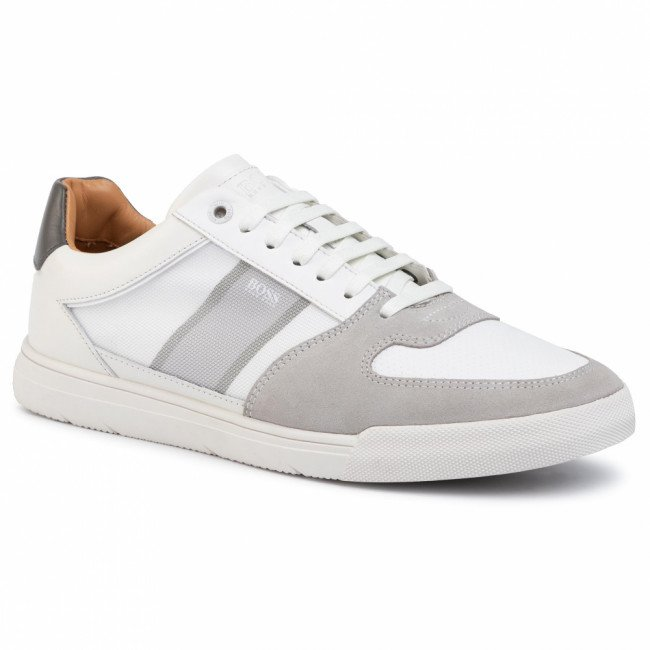 Sneakersy BOSS - Cosmopool Tenn 50417937 10214585 110 Open White 110