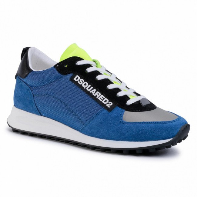 Sneakersy DSQUARED2 - Lace-Up Low Top Sneakers SNM0081 11702809 M001 Blu/Giallo