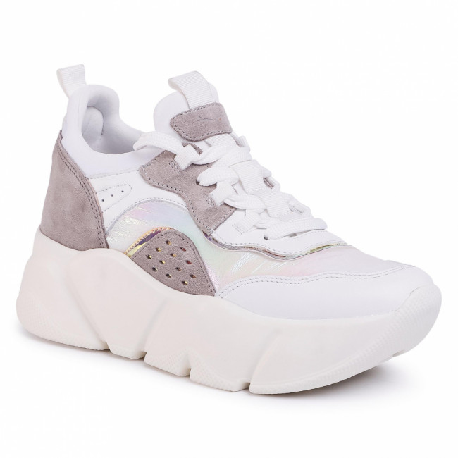 Sneakersy VOILE BLANCHE - Monster Fury 0012014974.01.1N30 Bianco/Tortora