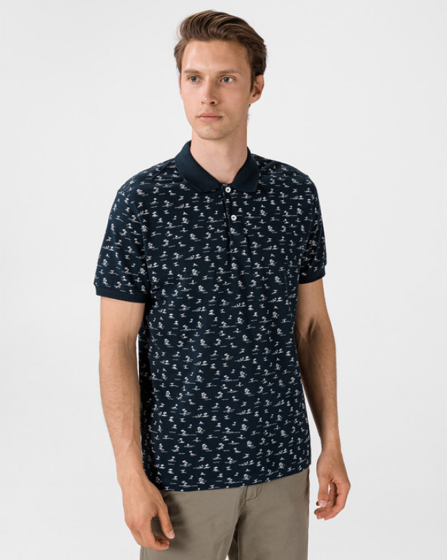 Jack & Jones Pedro Polo tričko Modrá