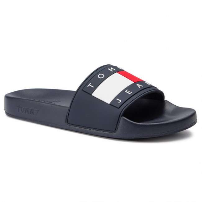 Šľapky TOMMY JEANS - Flag Pool Slide EM0EM00284 Midnight/403