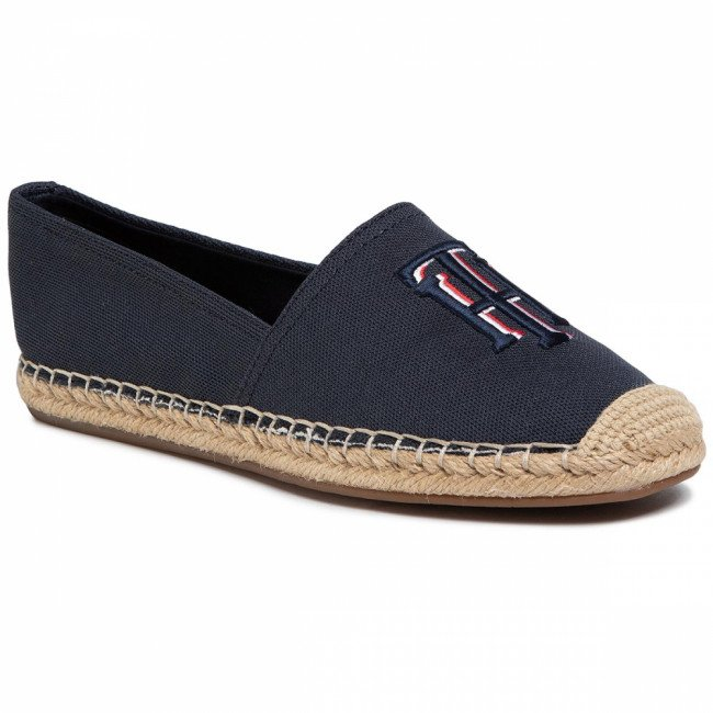 Espadrilky TOMMY HILFIGER - Nautical Th Basic Espadrille FW0FW04750 Desert Sky DW5