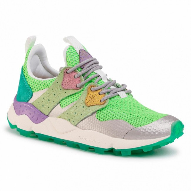 Sneakersy FLOWER MOUNTAIN - Corax 0012014761.02.0F05 Neon Green