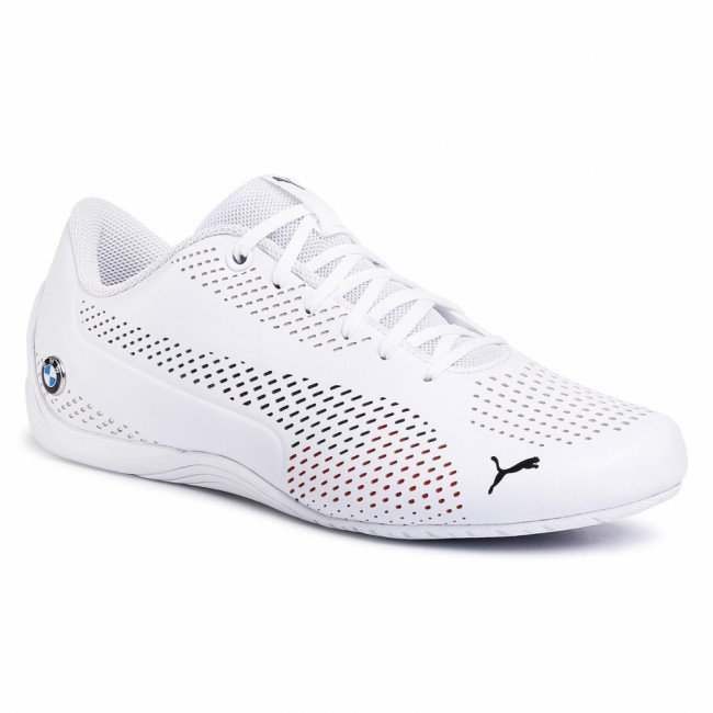 Sneakersy PUMA - BMW Mms Drift Cat 5 Ultrallm 306495 02 Puma White/Puma White/Marina