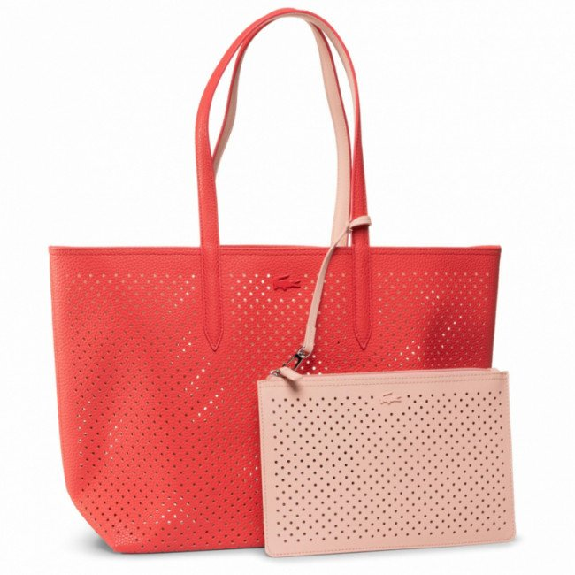 Kabelka LACOSTE - Shopping Bag NF3091AS Bittersweet/Pale Blush D91