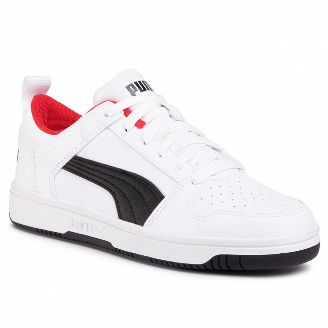 Sneakersy PUMA - Rebound Layup Lo Sl Jr 370490 01 Puma White/Puma Black/Red