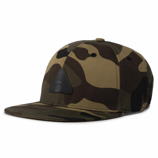 Šiltovka SUPERDRY - 6 Panel Twill Cap M9010011A Green Camo FDT