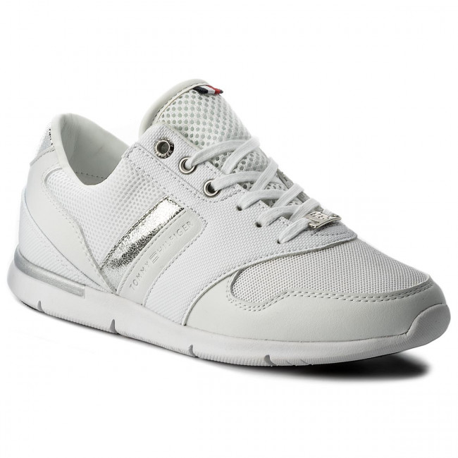 Sneakersy TOMMY HILFIGER - Light Weight Breathable Sneaker FW0FW02666  White 100
