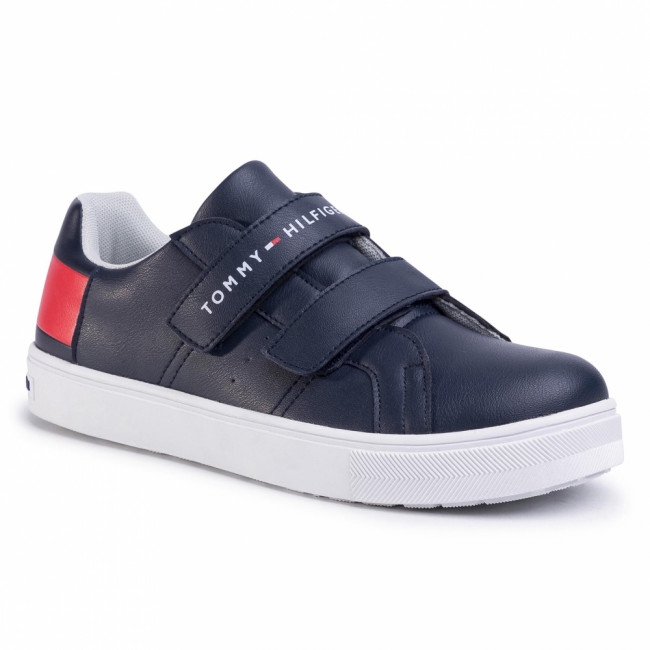 Sneakersy TOMMY HILFIGER - Low Cut Velcro Sneaker T3B4-30719-0193 D Blue/White/Red Y004